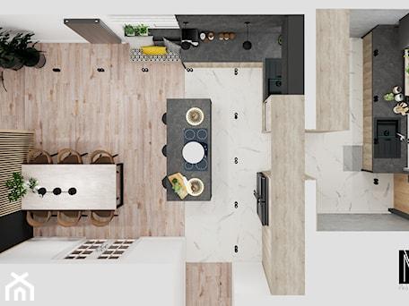 Aranżacje wnętrz - Kuchnia: Projekt - MVision Studio Projektowe. Przeglądaj, dodawaj i zapisuj najlepsze zdjęcia, pomysły i inspiracje designerskie. W bazie mamy już prawie milion fotografii!