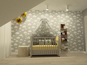 Projekt pokoi w budynku jednorodzinnym - Wrocław - Średni szary pokój dziecka dla chłopca dla niemowlaka, styl nowoczesny - zdjęcie od MVision Studio Projektowe