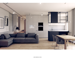 Salon+-+zdj%C4%99cie+od+Archibion+Pracownia+Projektowa+Krzysztof+Czerwi%C5%84ski