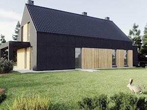 Dom jednorodzinny Kielno - Ogród, styl nowoczesny - zdjęcie od Archibion Pracownia Projektowa Krzysztof Czerwiński