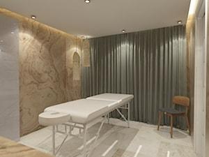 Klinika, strefa spa, pokoje pacjentów, korytarz.