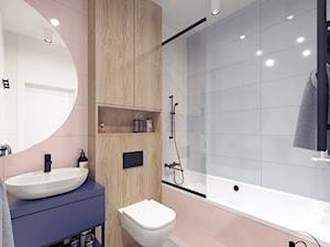 Projekt wnętrza przytulnej łazienki dla dzieci w Warszawie