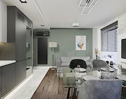 Projekt salonu z aneksem kuchennym - Warszawa - zdjęcie od BOHE Architektura - Homebook