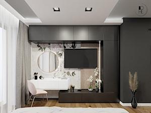 Projekt wnętrza sypialni w domu jednorodzinnym w Białymstoku