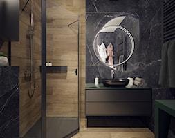 Projekt ciemnej łazienki - Łódź - zdjęcie od BOHE Architektura - Homebook