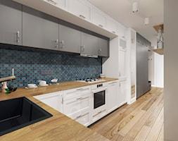 Aranżacja kuchni z salonem - Białystok - zdjęcie od BOHE Architektura - Homebook