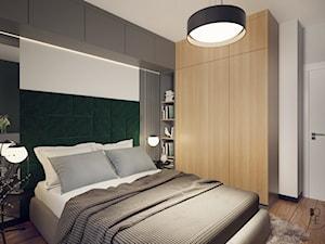 Projekt sypialni z tapicerowanymi elementami - Łódź