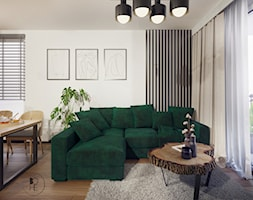 Nowoczesny projekt salonu z kuchnią - Łódź - zdjęcie od BOHE Architektura - Homebook
