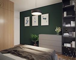 Projekt sypialni z tapicerowanymi elementami - Łódź - zdjęcie od BOHE Architektura - Homebook