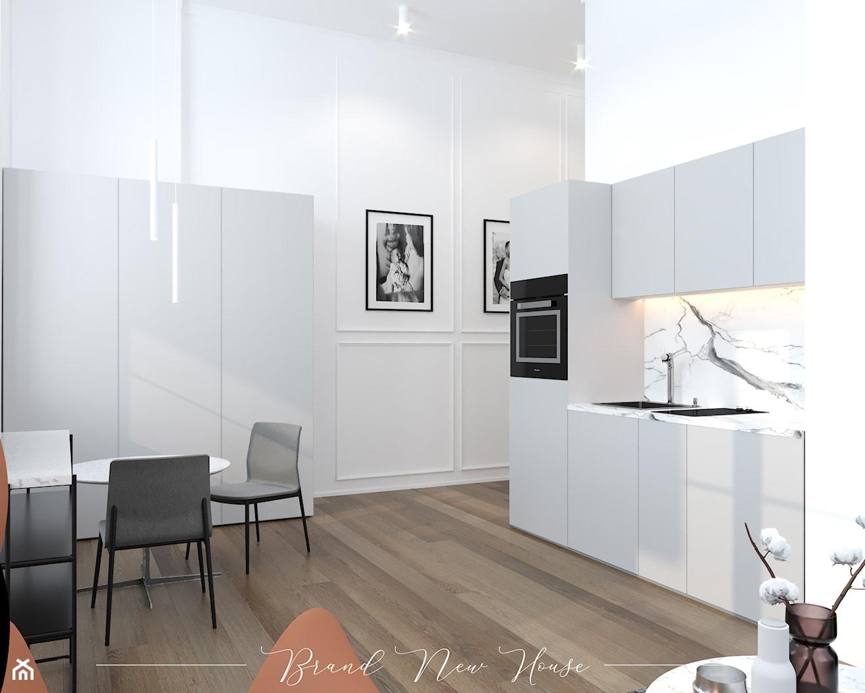 Apartament z rudymi dodatkami - Kuchnia, styl nowoczesny - zdjęcie od Brand New House - Homebook