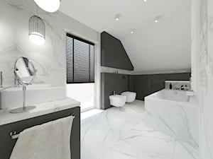 Łazienka ze skosem - zdjęcie od PW STUDIO - pracownia projektowa