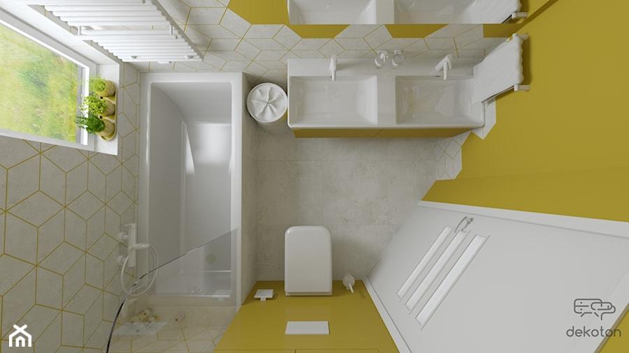 Trzy kolory łazienki - Żółta - zdjęcie od dekoton