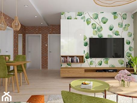 Aranżacje wnętrz - Salon: Wnętrze w kolorach natury - dekoton. Przeglądaj, dodawaj i zapisuj najlepsze zdjęcia, pomysły i inspiracje designerskie. W bazie mamy już prawie milion fotografii!