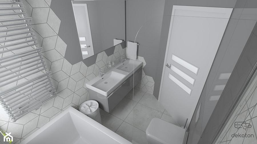 Trzy kolory łazienki - Szara - zdjęcie od dekoton