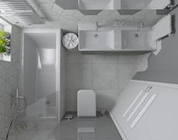 Trzy kolory łazienki - Szara - zdjęcie od dekoton - Homebook