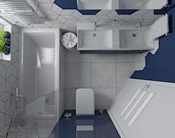 Trzy kolory łazienki - Niebieska - zdjęcie od dekoton - Homebook