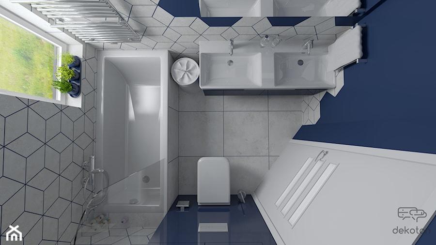 Trzy kolory łazienki - Niebieska - zdjęcie od dekoton