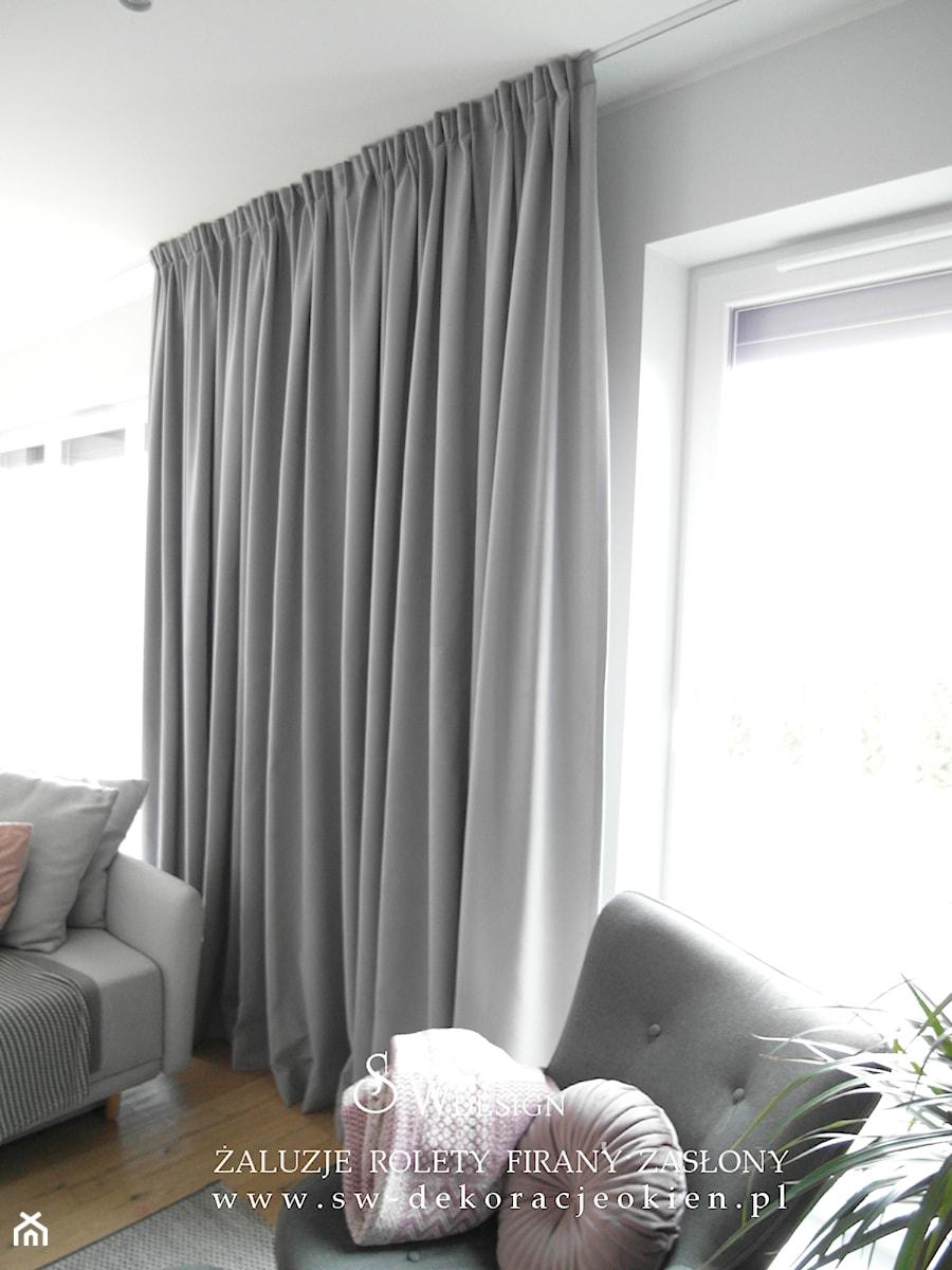 popielate zasłony - zdjęcie od sw design dekoracje okien