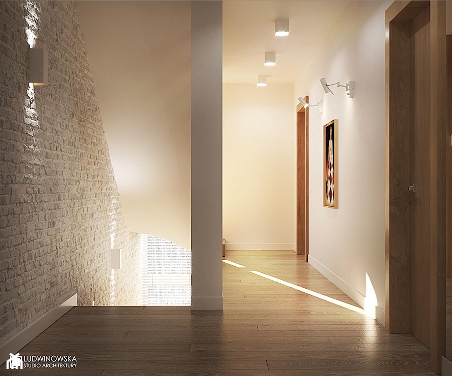 FOREST HOME - Średni beżowy hol / przedpokój, styl skandynawski - zdjęcie od Ludwinowska Studio Architektury