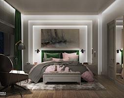 NOCTURNE - Średnia biała sypialnia małżeńska, styl eklektyczny - zdjęcie od Ludwinowska Studio Architektury - Homebook