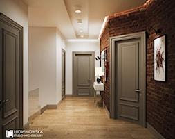 NOCTURNE - Średni beżowy hol / przedpokój, styl eklektyczny - zdjęcie od Ludwinowska Studio Architektury