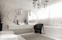 Kryształowo biała łazienka - zdjęcie od Aguzzi Studio Architektury