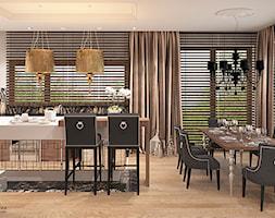 Kuchnia+z+jadalni%C4%85+w+stylu+glamour+-+zdj%C4%99cie+od+Ludwinowska+Studio+Architektury