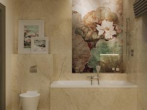 NOCTURNE - Średnia łazienka w bloku w domu jednorodzinnym z oknem, styl eklektyczny - zdjęcie od Ludwinowska Studio Architektury