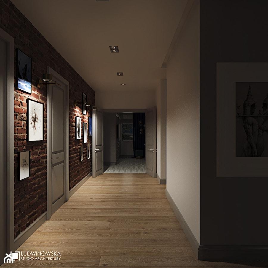NOCTURNE - Średni biały hol / przedpokój, styl eklektyczny - zdjęcie od Ludwinowska Studio Architektury