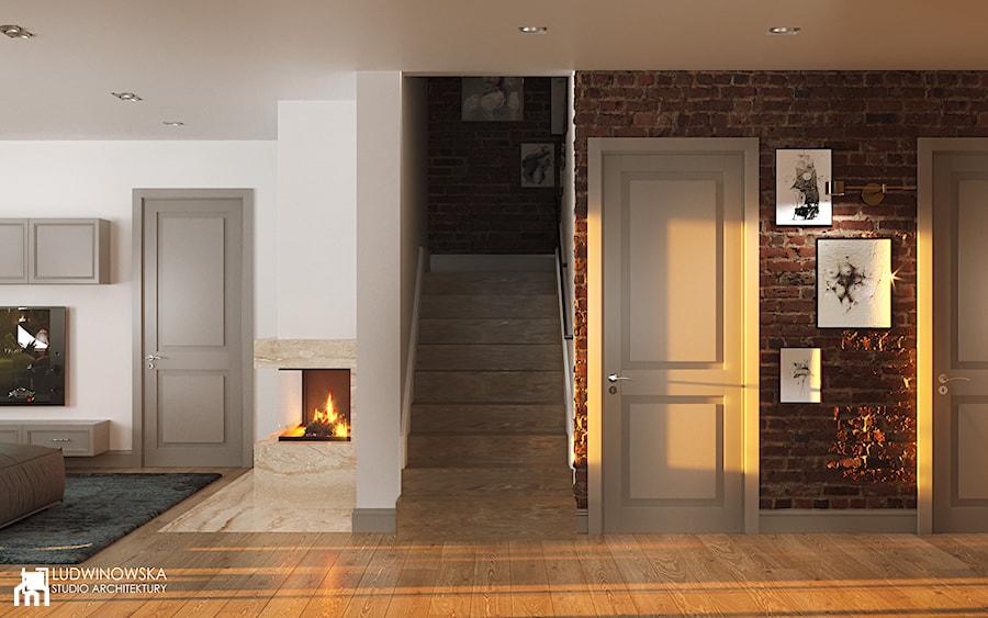 NOCTURNE - Duży biały hol / przedpokój, styl eklektyczny - zdjęcie od Ludwinowska Studio Architektury