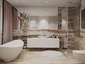 Piękna łazienka w kamieniu - zdjęcie od Ludwinowska Studio Architektury