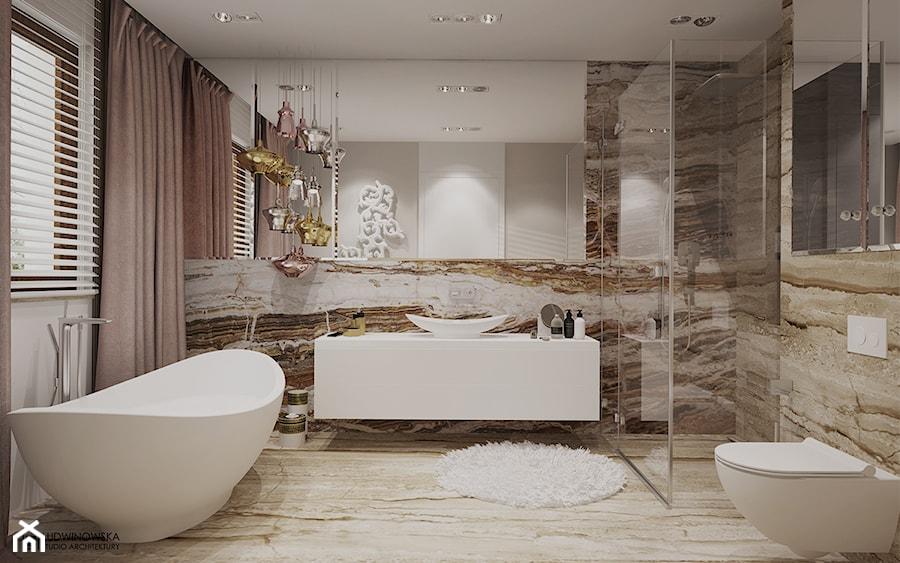 Piękna łazienka W Kamieniu Zdjęcie Od Ludwinowska Studio