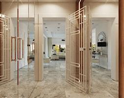 OLD HOLLYWOOD - Średni beżowy hol / przedpokój, styl nowojorski - zdjęcie od Ludwinowska Studio Architektury