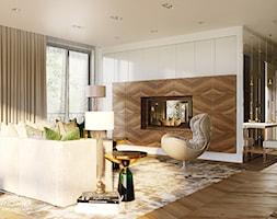 salon, art deco, nowoczesny, przytulny - zdjęcie od Ludwinowska Studio Architektury