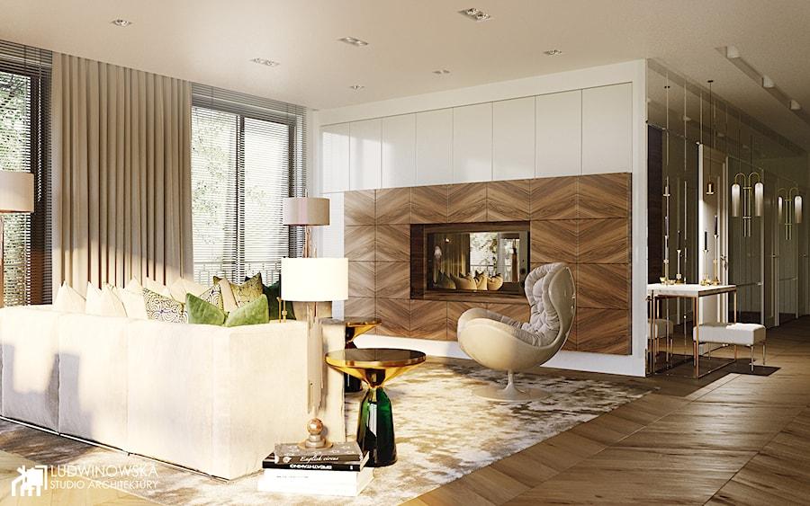salon art deco nowoczesny przytulny zdj cie od ludwinowska studio architektury homebook. Black Bedroom Furniture Sets. Home Design Ideas