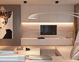 Salon+z+du%C5%BCym+obrazem+-+zdj%C4%99cie+od+Ludwinowska+Studio+Architektury