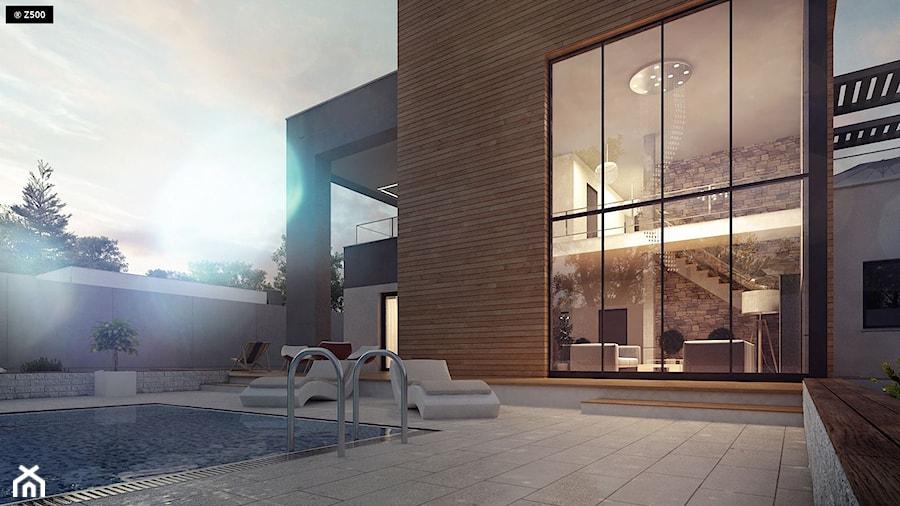 Duże jednopiętrowe nowoczesne domy jednorodzinne murowane - zdjęcie od Z500
