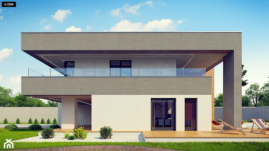 Duże jednopiętrowe nowoczesne domy murowane - zdjęcie od Z500