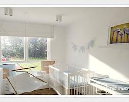 mieszkanie 70m2 Warszawa - Średni biały pokój dziecka dla dziewczynki dla niemowlaka, styl nowoczesny - zdjęcie od Twój Kwadrat