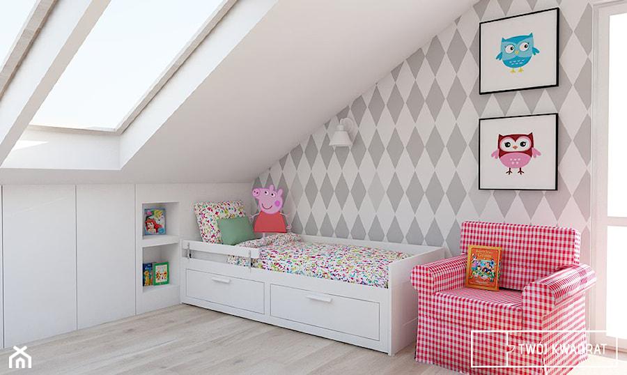 Aranżacje wnętrz - Pokój dziecka: Mieszkanie w Warszawie 100m2 - Średni biały szary pokój dziecka dla dziewczynki dla malucha, styl klasyczny - Twój Kwadrat. Przeglądaj, dodawaj i zapisuj najlepsze zdjęcia, pomysły i inspiracje designerskie. W bazie mamy już prawie milion fotografii!