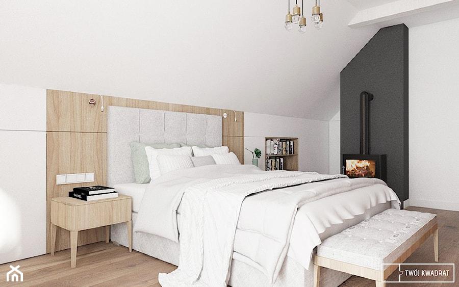 Aranżacje wnętrz - Sypialnia: dom pod Warszawą - Średnia biała czarna sypialnia małżeńska na poddaszu, styl rustykalny - Twój Kwadrat. Przeglądaj, dodawaj i zapisuj najlepsze zdjęcia, pomysły i inspiracje designerskie. W bazie mamy już prawie milion fotografii!