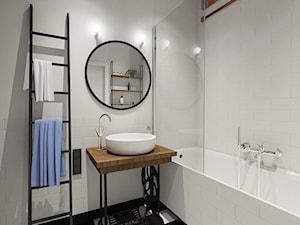 łazienka - Średnia biała łazienka bez okna, styl vintage - zdjęcie od Twój Kwadrat