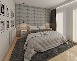 Sypialnia w odcieniach szarości - zdjęcie od PureAndGlam - Homebook