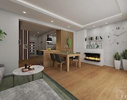 Salon z aneksem kuchennym - zdjęcie od PureAndGlam - Homebook