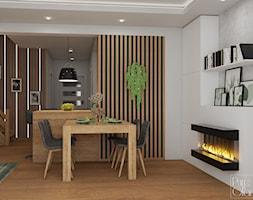 Salon z kominkiem elektrycznym - zdjęcie od PureAndGlam - Homebook
