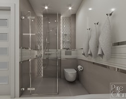Łazienka z wanną narożną i prysznicem - zdjęcie od PureAndGlam - Homebook