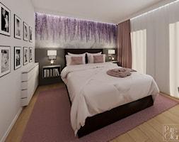 Sypialnia z tapetą - zdjęcie od PureAndGlam - Homebook