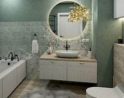 Łazienka z okrągłym lustrem - zdjęcie od PureAndGlam - Homebook