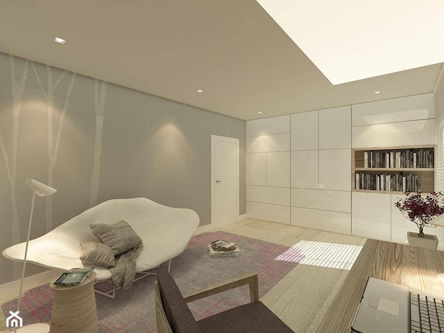 Mieszkanie w Parzniewie - Biuro, styl nowoczesny - zdjęcie od Katarzyna Jaskulska Projektowanie Wnętrz