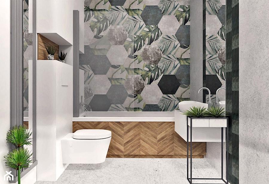 Łazienka z motywem roślinnym - zdjęcie od AN Koncept Anita Niziałek
